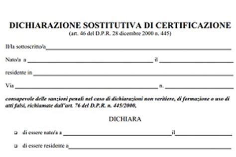 modulo richiesta porto d armi uso sportivo modulo della dichiarazione sostitutiva di certificazione