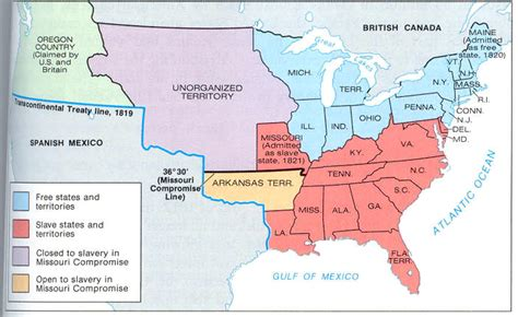 missouri compromise map activity answers history
