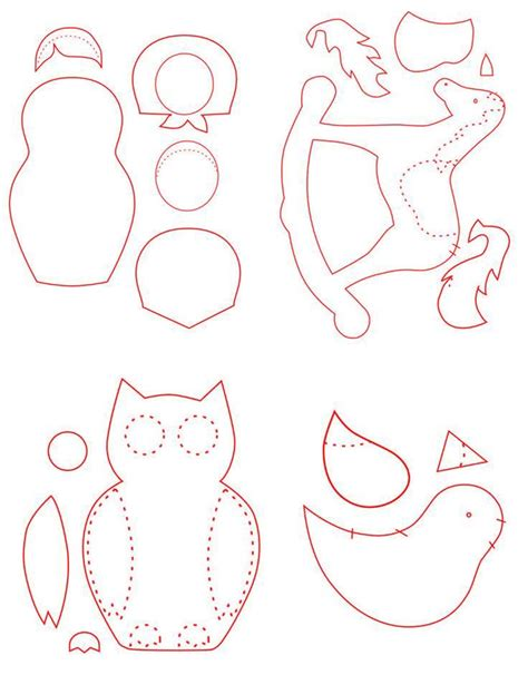 felt shape templates free patterns for felt ornaments vintage craft