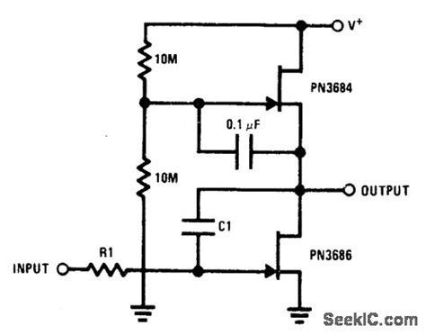 integrator dump circuit ac coupled jfet basic circuit circuit diagram seekic