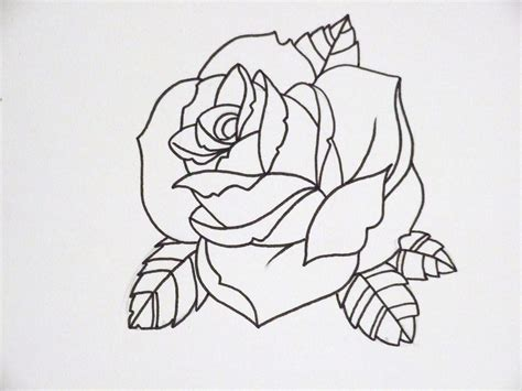 outline of a rose tattoo outline search tattoos