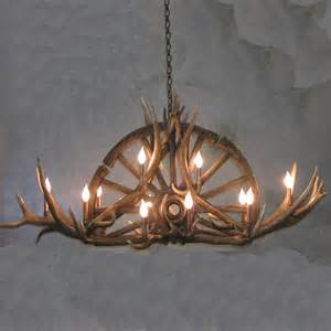 Wagon Wheel Chandelier Parts Sundial Wagon Wheel Antler Chandelier