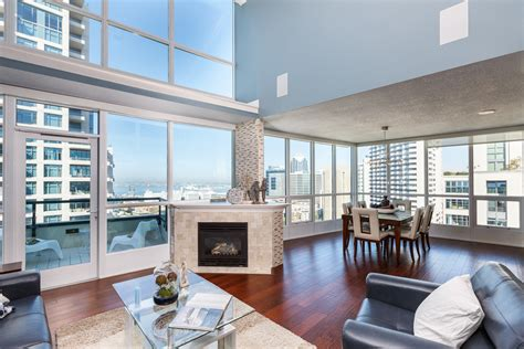 Luxury Contemporary Homes new downtown san diego penthouse horizons unit 2204
