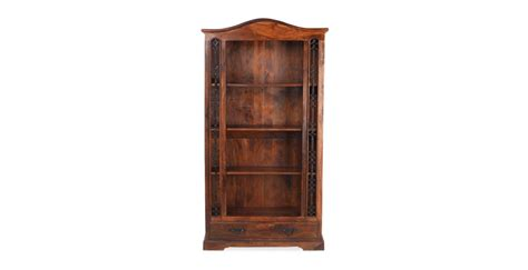 tall bookcase with drawers jali sheesham tall bookcase with drawer lifestyle