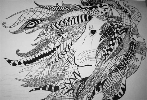 lion zentangles google search doodle zentangle pen zentangles animals buscar con google zentangles and