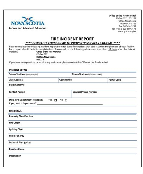 incident report security guard incident report template 6