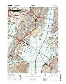 usgs us topo 7.5 minute map for jersey city, nj ny 2016