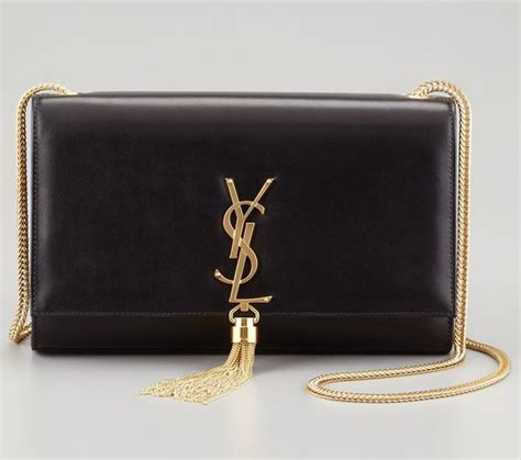 Purse Trend Black With A Touch Of Gold by Black Ysl Purse Clutch Gold Chain Designer Handbags