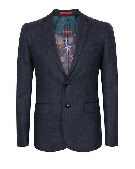 design of jacket suit lyst ted baker edeson micro design wool suit jacket in