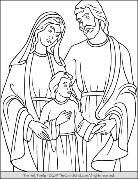 coloring page holy family catholic holy family coloring page sketch coloring page
