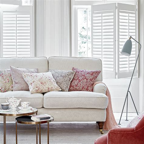 embrace oddities smart small living room ideas sunset 7 essential modern country shutter and blind styles