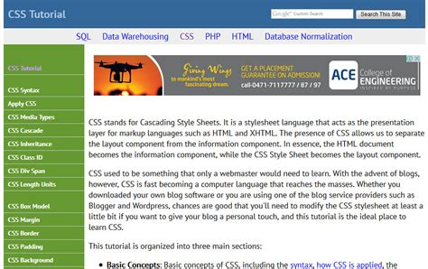css tutorial quick 25 best collection of css tutorial websites 187 css author