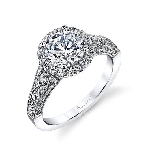 cheri vintage inspired halo engagement ring s1409 sylvie