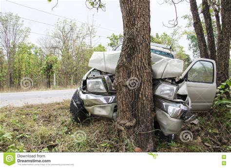 car with tree image car crash tree stock photo image of front vehicle collision 72443496