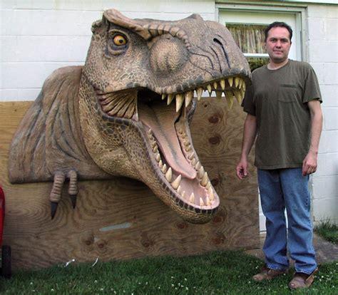 dinosaur head carved  tradeshow universal foam