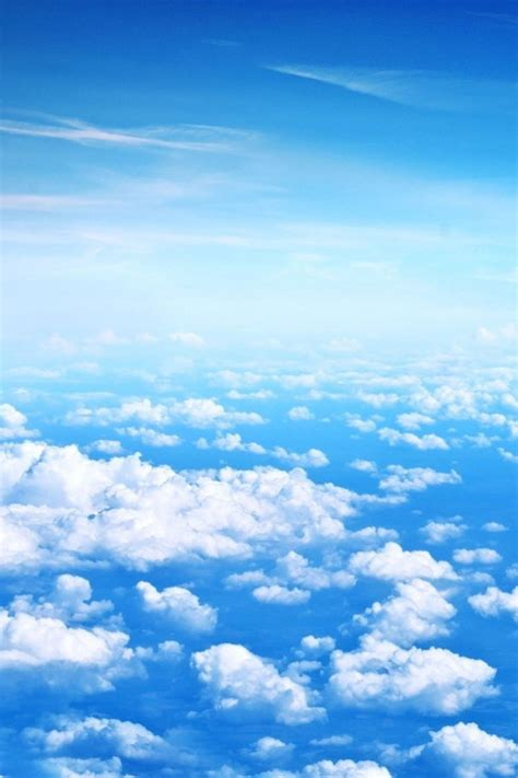 wallpaper iphone sky spring blue sky and white clouds iphone wallpaper free