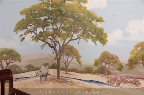 safari wall mural safari wall mural of animal wildlife san francisco by mural studios