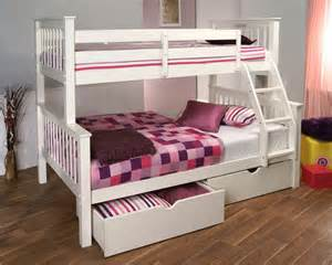 limelight pavo white three sleeper bunk bed bedstar co uk