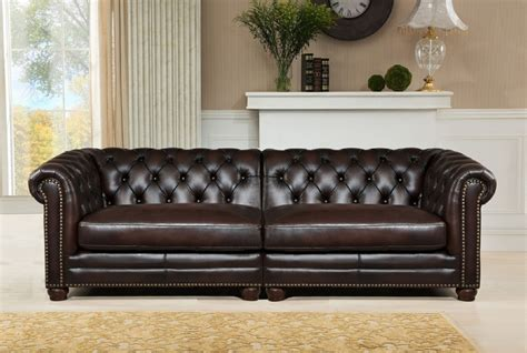 Large Brown Leather Sofa Kennedy Genuine Brown 100 Leather Large Sofa