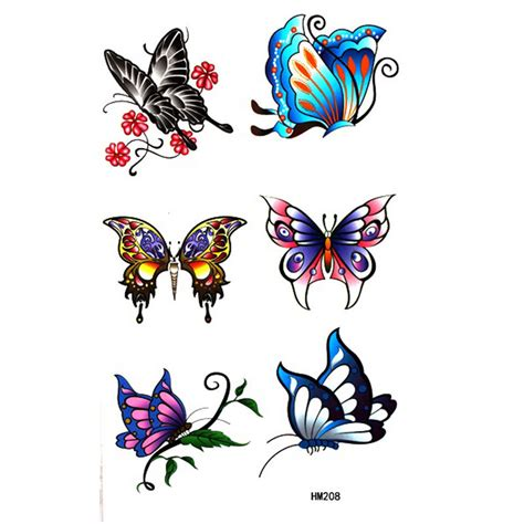 colorful butterfly tattoo designs 5 colorful designs