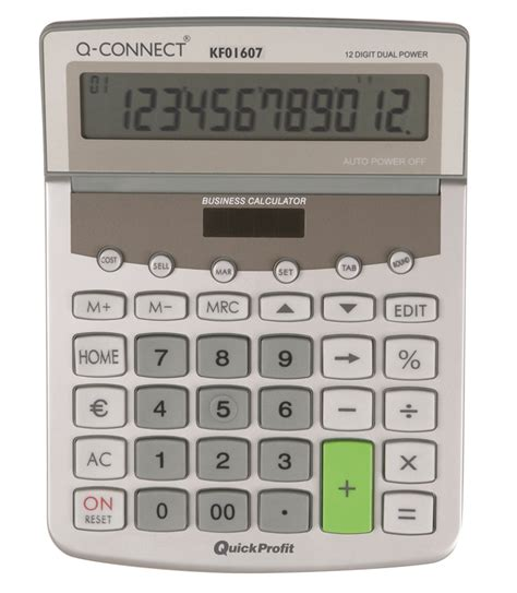 Ronbon Rb2618 Ii Kalkulator 12 Digit calculator desktop q connect premium 12 digit