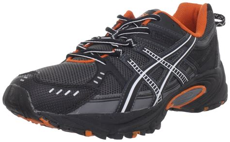 orange and black running shoes asics gel ventures 3 s trail running shoes charcoal