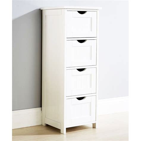 bathroom cabinets with drawers modern shaker baltimore white 4 drawer storage bathroom