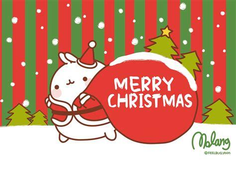 christmas wallpaper kawaii merry christmas molang by leyfzalley on deviantart