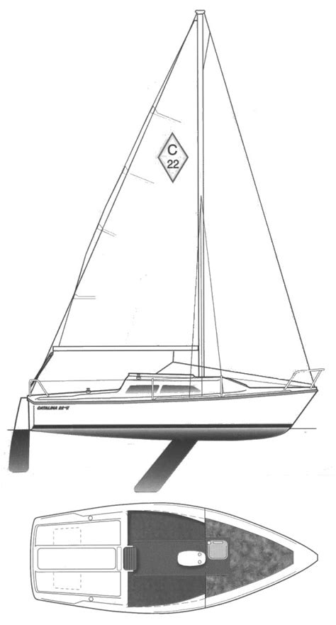 sailboat dimensions catalina 22 mkii sailboat specifications and details on