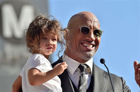 dwayne johnson the rock daughter dwayne the rock johnson opens up about new jumanji and