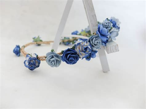 Hairband With Crown A42777 Blue royal blue flower crown headpiece
