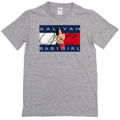 Aaliyah Baby T Shirt Size Xl aaliyah babygirl grey t shirt newgraphictees