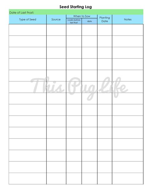 printable seed journal 6 best images of garden journal printables printable