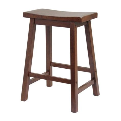 Wood Counter Stools by Shop Winsome Wood Antique Walnut Counter Stool At Lowes
