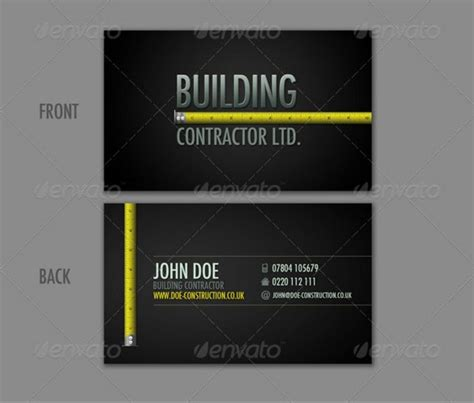 construction business card templates 30 best 25 construction business card template psd and