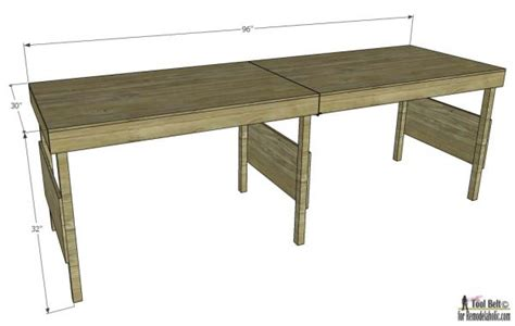 work bench dimensions remodelaholic diy portable workbench or folding table