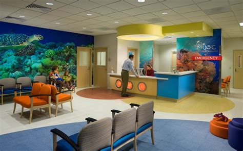 musc emergency room interior design environmental graphics pediatric healthcare children s hospital