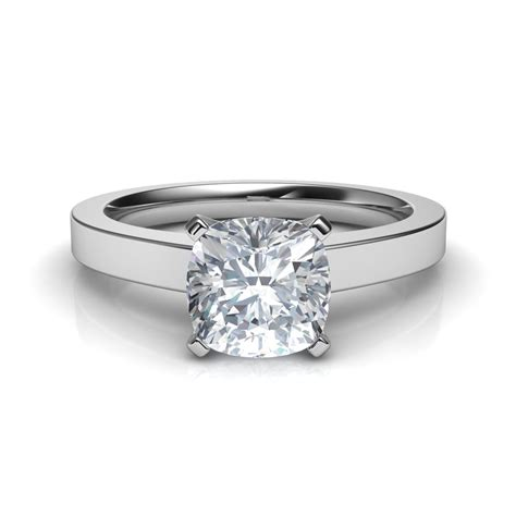 novo cushion cut solitaire engagement ring in 14k