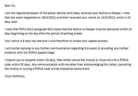 Appeal Letter Parking Offence Parking Prankster Bpa Ltd Announce Free For All Parking Companies Allowed To Define Appeal