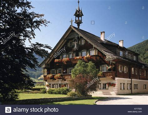 buy farm house architecture farm houses austria salzburg farm near altenmarkt im stock photo