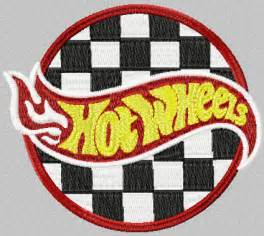 Waybuloo Wall Stickers hot wheels racing logo machine embroidery design for sport