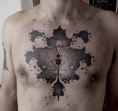 fractal tattoos fractal on chest by m x m tattoomagz