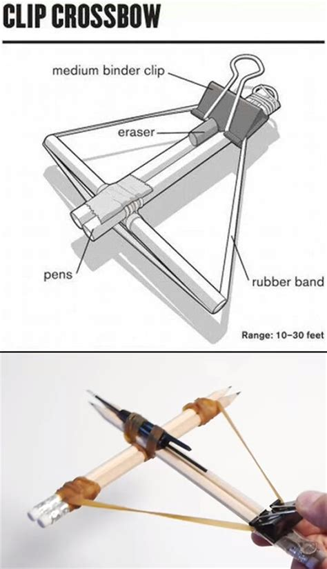 Office Supply Crossbow by How To Quickly And Easily Make An Office Supplies Crossbow