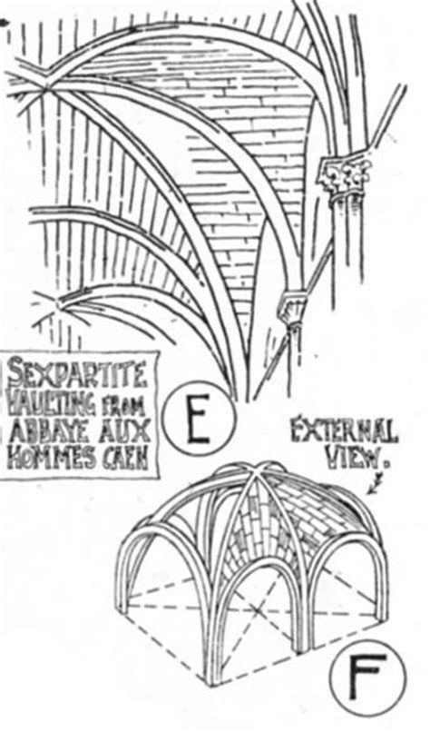 Cathedral Roofdrawing romanesque vaulting