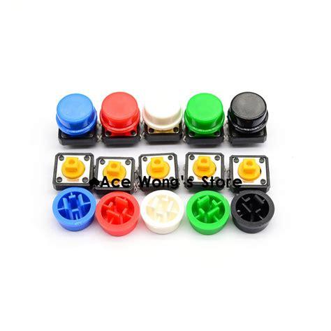 Tactile Button 43mm Push On 20pcs tactile push button switch momentary 12 12 7 3mm micro switch button 20pcs 5 colors