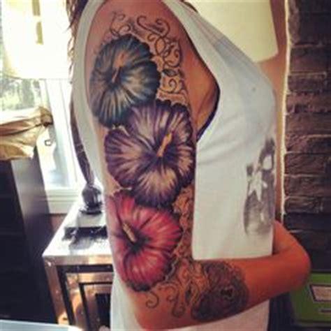 hibiscus quarter sleeve tattoo tattoos flowers hawaiian half sleeves or anything that