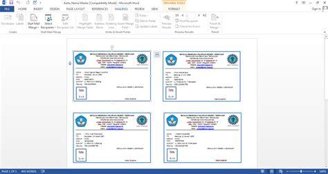 membuat mail merge dengan foto cara membuat kartu pelajar dengan menggunakan fasilitas