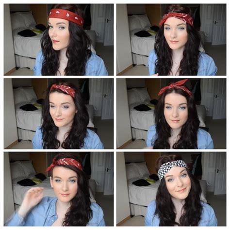 different ways to wear a bandana with short hair different ways to wear a bandana hair stuff pinterest