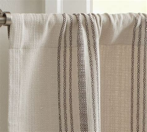 french cafe curtains 22 99 french stripe cafe curtain pottery barn windows