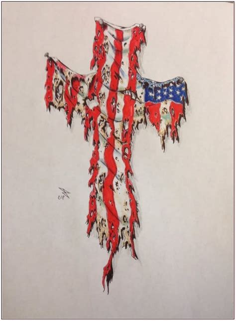 american flag and cross tattoo 20 best american designs